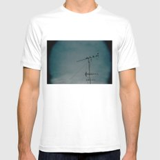 Birds White Mens Fitted Tee MEDIUM