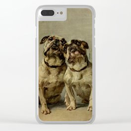 Earl,Maud   (1864-1943) -The Power of the Dog Bulldog Clear iPhone Case