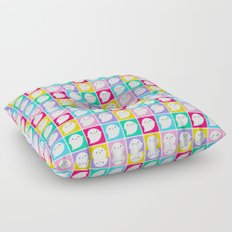 Colourful Little Ghosts Floor Pillow