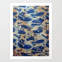 boats Art Prints featuring Boats by Heather Fraser