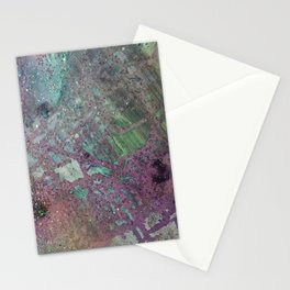 Purpley Glitz Stationery Cards