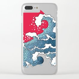 The Second Great Wave Clear iPhone Case