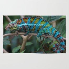 Colorful tropical reptile lizard Rug