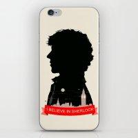 sherlock iPhone & iPod Skins featuring Sherlock by Duke Dastardly