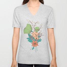 Botanical pattern 012 Unisex V-Neck