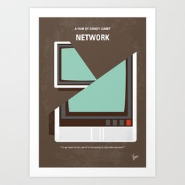 No1021 My Network minimal movie poster Art Print