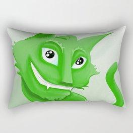 Kyrai - the green cat Rectangular Pillow
