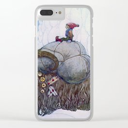"""The Julbock"" Christmas Goat by John Bauer Clear iPhone Case"