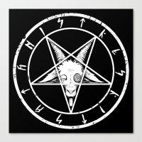satan Canvas Prints featuring SATAN by FoxBoy