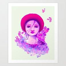 Sad Purple Art Print