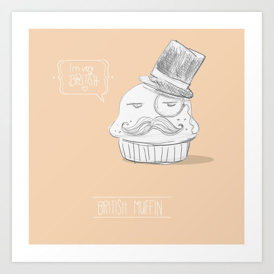 british muffin Art Print
