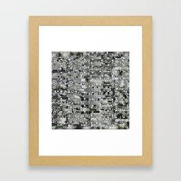 Knowing Wink (P/D3 Glitch Collage Studies) Framed Art Print