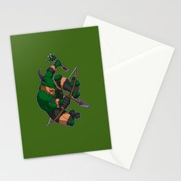 Robin Hood Roller Derby logo Stationery Cards