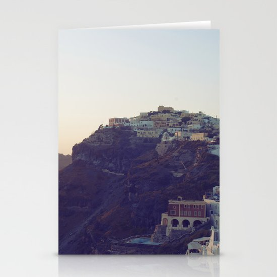 Fira at Dusk III Stationery Cards