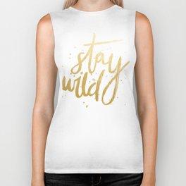 STAY WILD GOLD Biker Tank