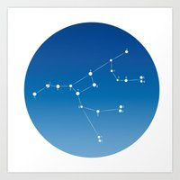 Ursa major constellation Art Print