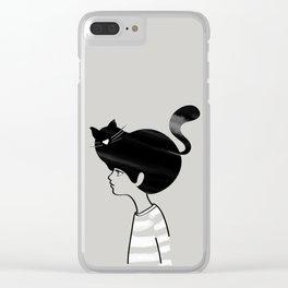 Cat Hat Clear iPhone Case