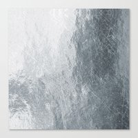 silver Canvas Prints featuring Silver by Patterns and Textures