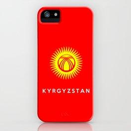 Kyrgyzstan country flag name text iPhone Case