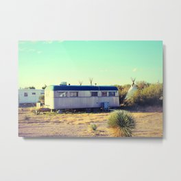 Tepee Trailer Metal Print