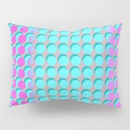 Pink & Aqua Spots on Taupe Pillow Sham
