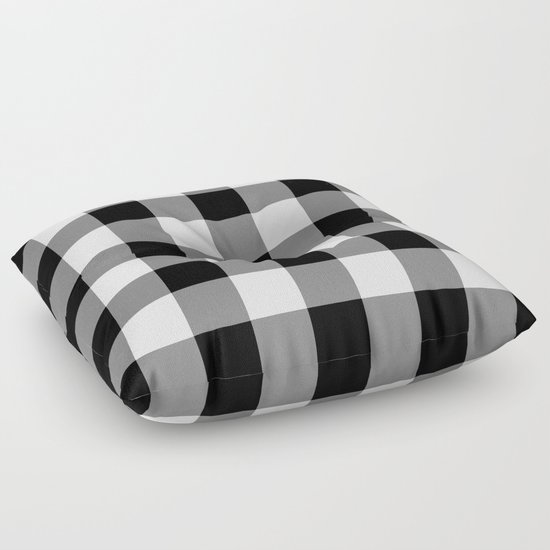 Plush Buffalo Plaid Rug: Black And White Buffalo Plaid Floor Pillow By Sutton Place