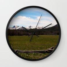 mountains. Wall Clock