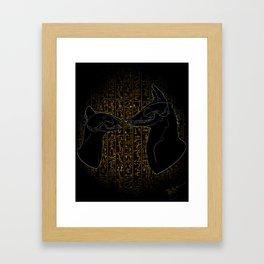 Sacred Anubis & Bastet Framed Art Print