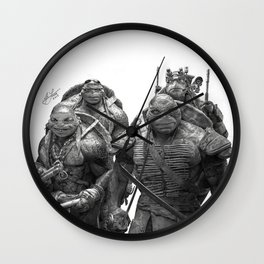 Green Teenage Heroes Wall Clock