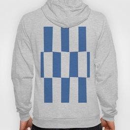 Modern royal blue and white trendy checker pattern Hoody