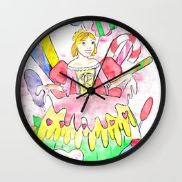 Candy Princess  Wall Clock