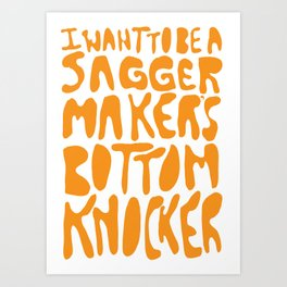 Sagger Maker's Bottom Knocker Art Print