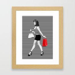 Stripes in fashion Framed Art Print