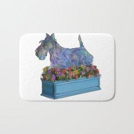 Animals in Gardens: Scotty in a Flower Box Bath Mat