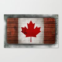 canada Canvas Prints featuring Canada by Arken25