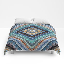 Boundaries (Natural) - Square cut Comforters
