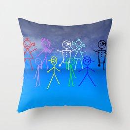 stick figures -35- Throw Pillow