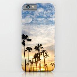 Palm Tree Love (blue and orange) iPhone Case