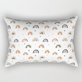 Colorful rainbow pattern Rectangular Pillow
