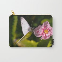 White butterfly on a plant in nature Carry-All Pouch