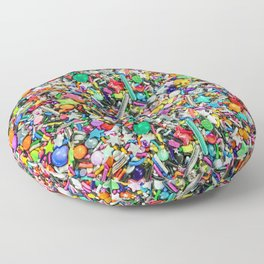 Rainbow Sprinkles - cupcake toppings galore Floor Pillow