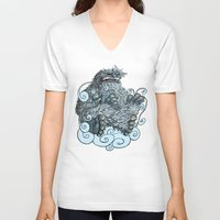 yeti V-neck T-shirts featuring Yeti by David Comito