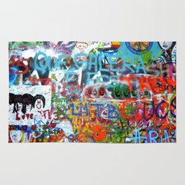 grafitti wall Rug