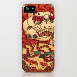 Chinese Lion iPhone Case