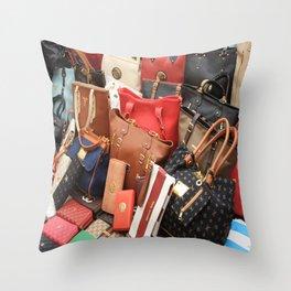 Women's Designer Handbags Throw Pillow
