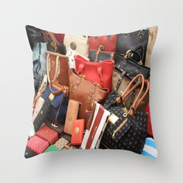 Women's Designer Handbags Throw Pillow