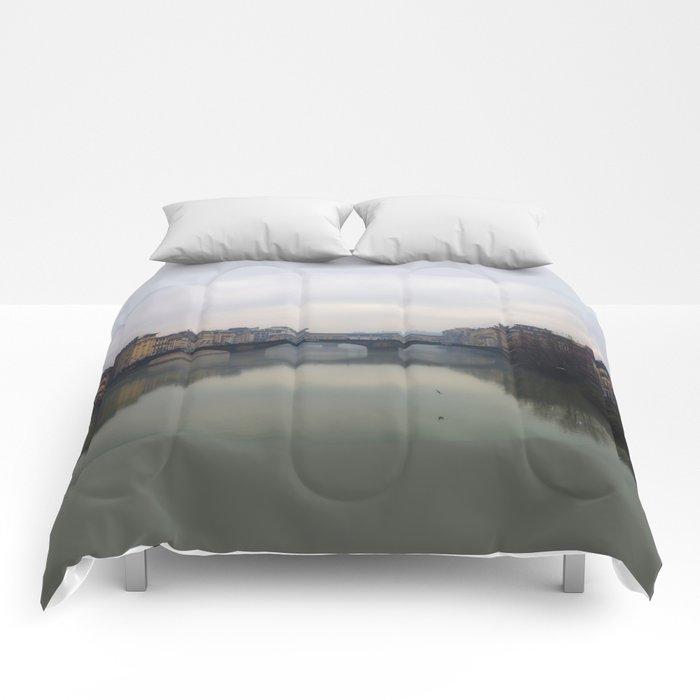 Bridge Gap Over Arno Comforters