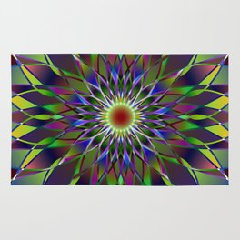 Kaleidoscope mandala Rug