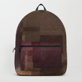 Red and Brown Abstract Backpack