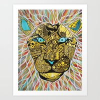 lion signs Art Print